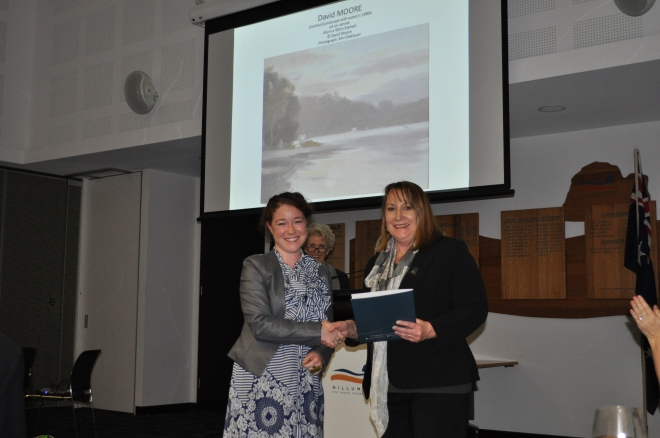 Melissa Watts with CR Helen Coleman. Photo via Nillumbik Shire Council.
